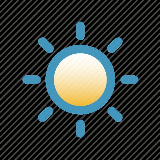 blitzcon, icon, line, mix, shine, summer, sun, weather icon