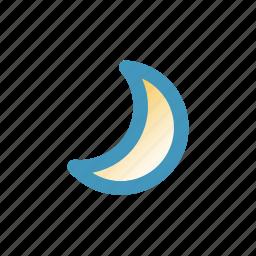 blitzcon, line, mix, moon, night, weather icon