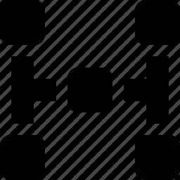 block, diagram, scheme, structure icon