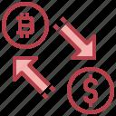 changing, exchange, shuffle, symbols icon