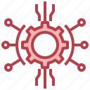 connection, database, networking, technology icon