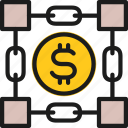 bitcoin, blockchain, coin, color, cryptocurrency, digital, key icon