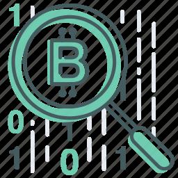 blockchain, data, research, search, transfer icon