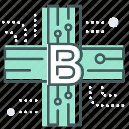 blockchain, data, encrypt, hospital, medical, secure icon