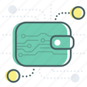 bank, banking, blockchain, digital, money, payment, wallet icon