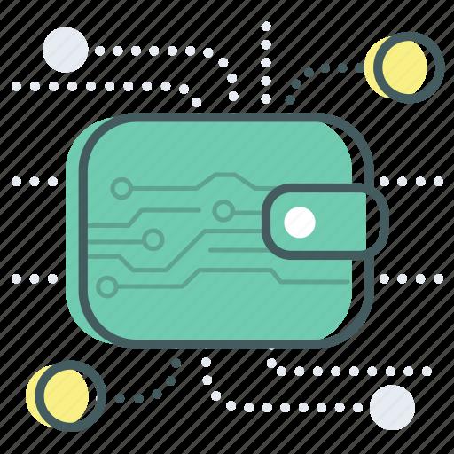 bank, banking, blockchain, digital, money, payment, wallet icon