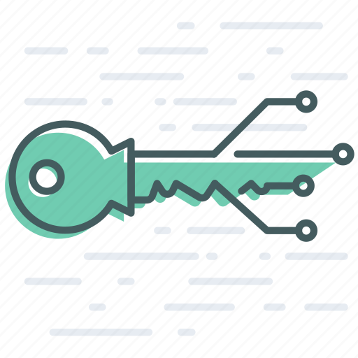 access, banking, blockchain, digital, key, keychain, unlock icon