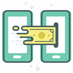 banking, bitcoin, digital, mobile, money, payment, transfer icon