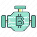 engine, blcokchain, work, bitcoin, machine, motor
