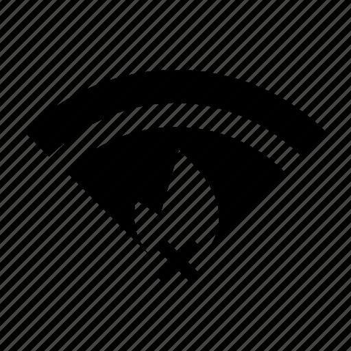 hotspot, unavailable, weak signal, weak wifi icon