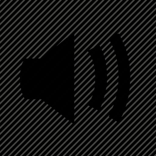 audio on, loud, speaker, speaker on icon