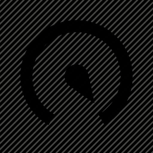 gauge, on, performance, power icon