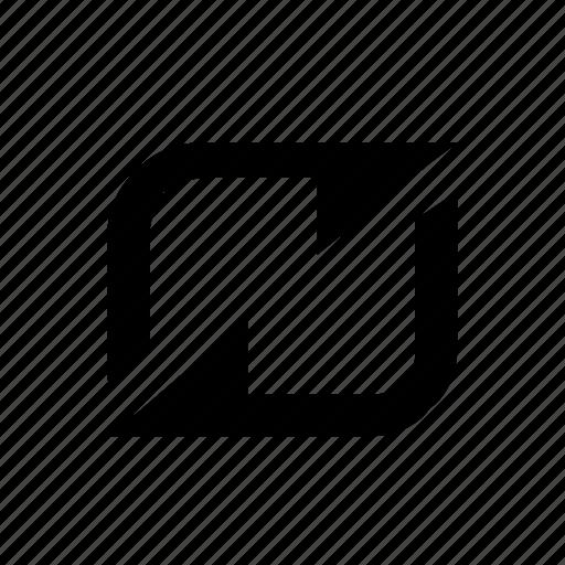 bi-directional, data, sync icon