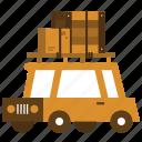 car, luggage, moving, travel