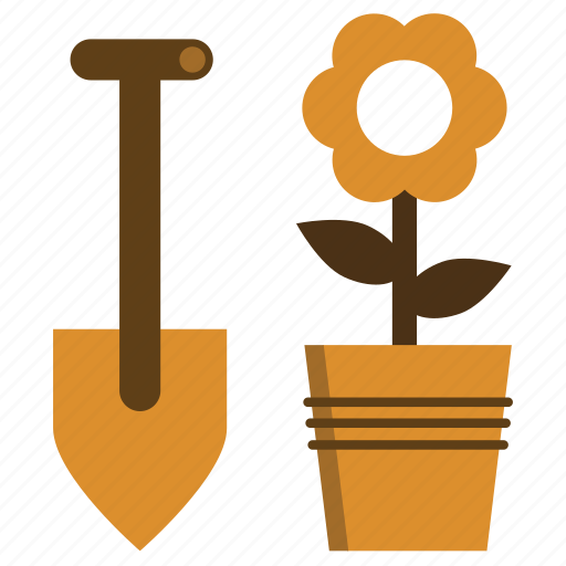 Flower, gardening, pot, shovel icon - Download on Iconfinder