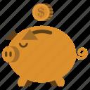 bank, coin, money, piggy