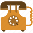 antique, old, phone, retro, telephone icon