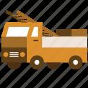 builder, construction, ladder, repair, truck icon
