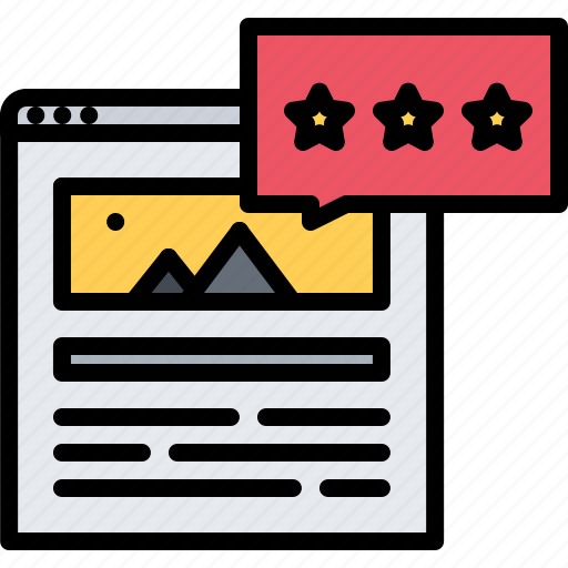 article, blog, network, rating, social, star, text icon