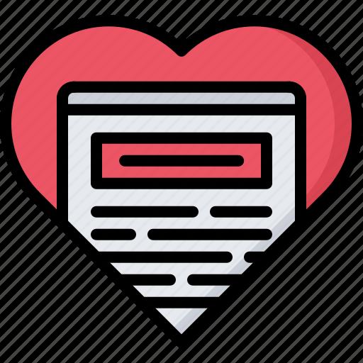 article, blog, heart, like, network, post, social icon