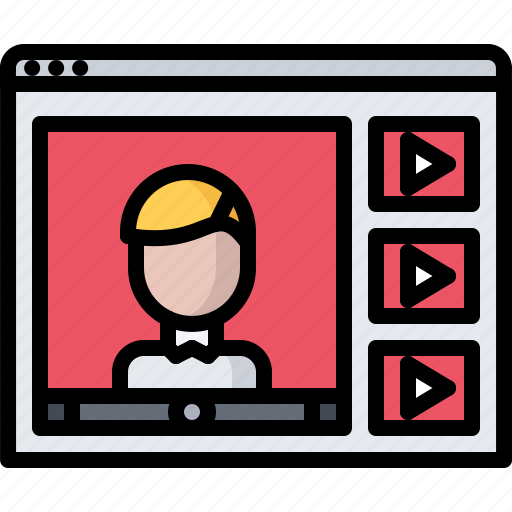blog, channel, network, social, video, window icon