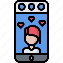 blog, heart, like, network, social, story, video icon