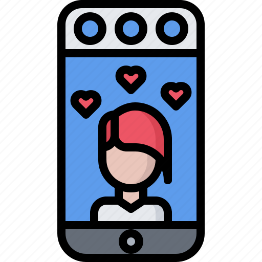blog, heart, like, network, social, story, video icon