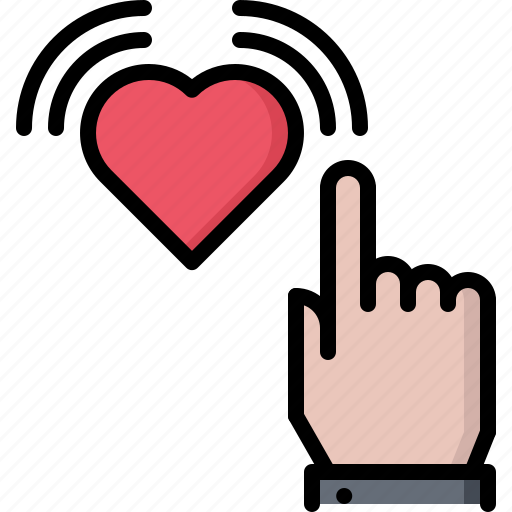 blog, click, hand, heart, like, network, social icon