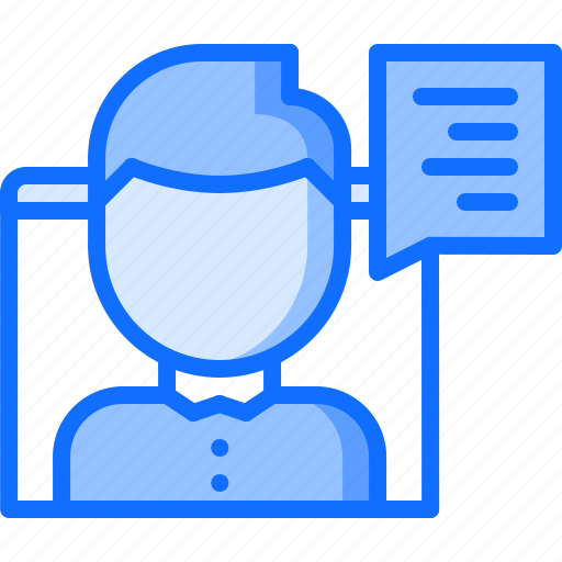 blog, blogger, comment, network, social, text, window icon
