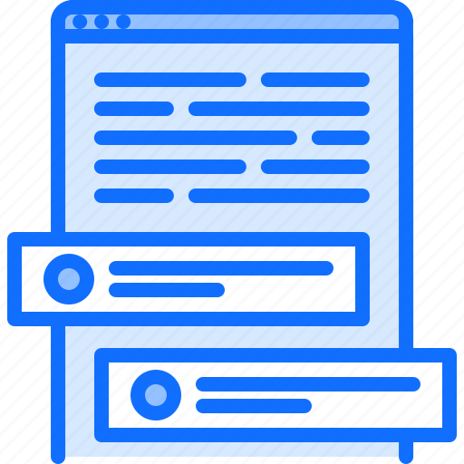 article, blog, comment, network, post, social, text icon