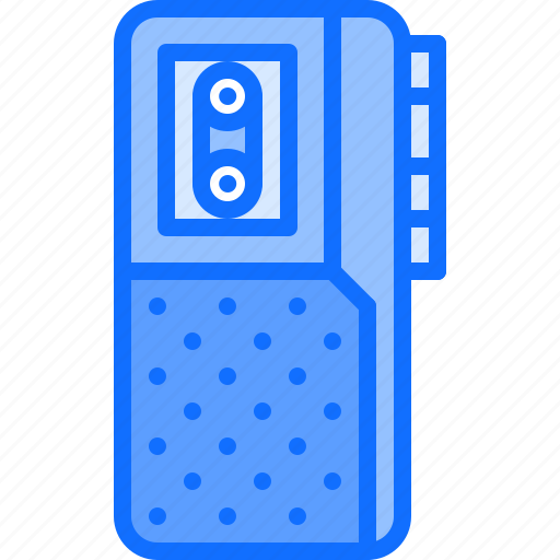 blog, cassette, dictaphone, journalism, network, record, social icon