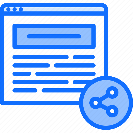 article, blog, network, post, share, sharing, social icon