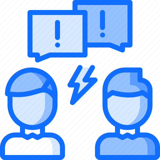 aggression, blog, comment, conflict, network, social, text icon