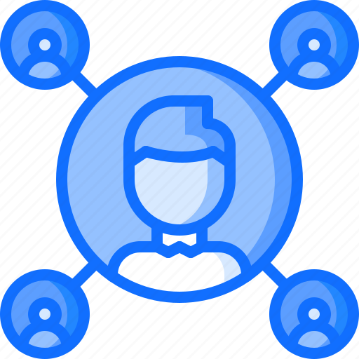 blog, follower, friend, man, network, people, social icon