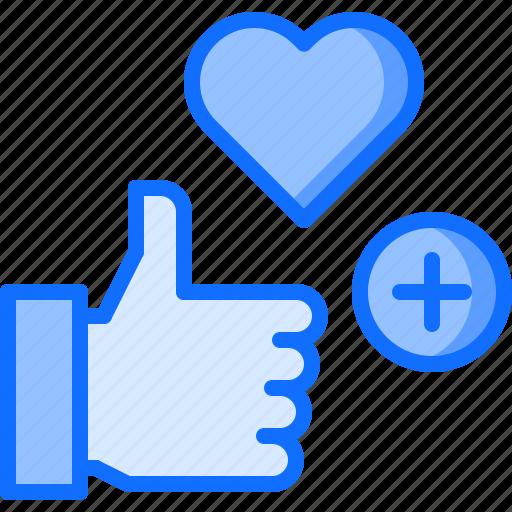 blog, heart, like, network, plus, social icon