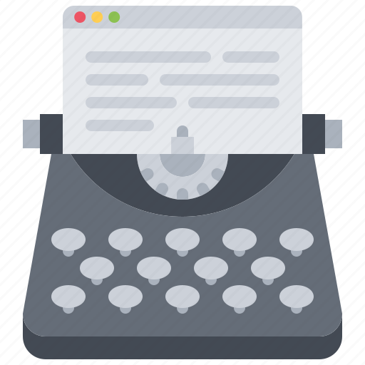 article, blog, network, post, social, text, typewriter icon