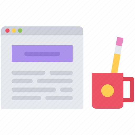 article, blog, cup, network, pencil, post, social icon