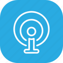 broadcast, communication, information, share, source, wave icon
