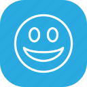 emoticon, face, happy, smile, smiley, social icon