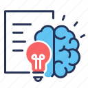 brain, document, intellectual, property icon
