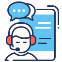 connection, live chat, smartphone, technical support icon