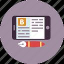 blog, blogging, cellphone, modern, pen, writing