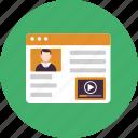 articles, blog, blogging, famous, post, profile, video
