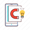 blog, creative, gathering, idea, smartphone icon