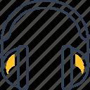 blogging, cinema, headphones, movie, sound icon