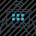 blogging, console, fi, hand, wi icon