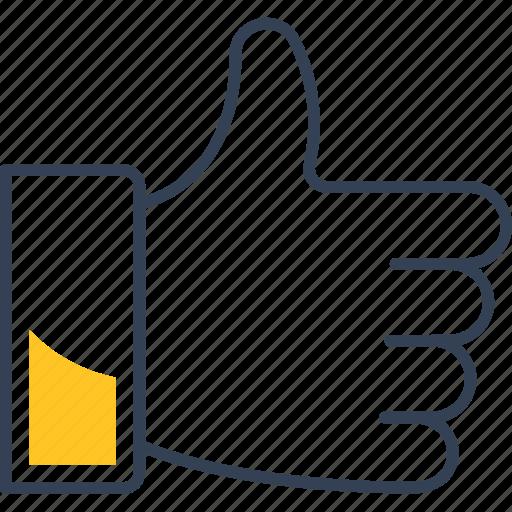 blogging, hand, like icon