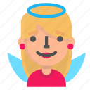 angel, avatar, blond, emoji icon