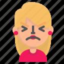 atonished, avatar, blond, emoji icon