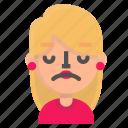 avatar, blond, disenchanted, emoji icon